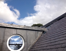 roof with circular window